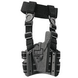 Holster plastic belt, side view. Holster plastic protection for handgun on belt, side view. 3D graphic Stock Photography
