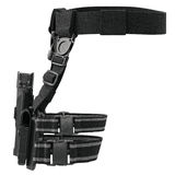 Holster weapon, front view. Holster army plastic on belt for gun, front view. 3D graphic Stock Image