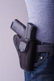 holstered的枪 免版税库存照片