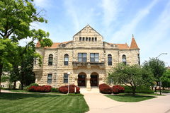 Holton Hall -Kansas State University. Holton Hall, completed in 1900, is one of many distinctive old buildings on the campus of Kansas State University in Stock Photo