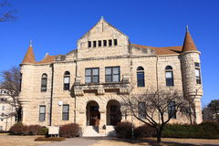 Holton Hall KSU. Holton Hall, completed in 1900, is one of many distinctive old buildings on the campus of Kansas State University in Manhattan Kansas. This Royalty Free Stock Image
