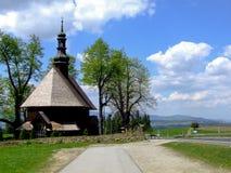Holu十字架教会在Chabà ³ wka的在波兰 免版税库存照片