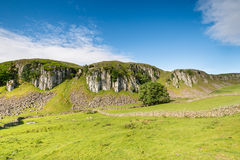 Holwick Scar on a sunny day Stock Images