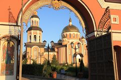 Holy-Alikseevsky nunnery in the city of Saratov royalty free stock images