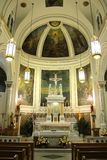 The Holy Alter at The Most Precious Blood Church, New York City stock image