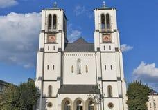 Holy Apostle Andrew Church facade in Salzburg, Austria Stock Photos