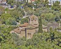 Holy Apostles byzantine church, Athens Royalty Free Stock Photos