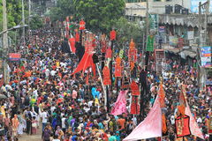 Holy Ashura Observed Bangladesh. Member of Shia Community takes out a huge Tazia procession in the city of Dhaka on memories of karbala in Muharam  at Dhaka Stock Images