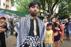 Holy Ashura Observed Bangladesh. Member of Shia Community takes out a huge Tazia procession in the city of Dhaka on memories of karbala in Muharam  at Dhaka Stock Photo