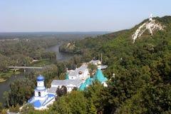 Holy Assumption Monastery Svyatogorsk Stock Images