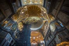 Holy basilica Sofía, Istambul - Turkey. Plafond de la basilique Sainte Sophie, Istambul - Turquie stock image