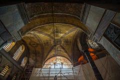 Holy basilica Sofía, Istambul - Turkey. Plafond de la basilique Sainte Sophie, Istambul - Turquie royalty free stock photos