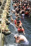 HOLY BATH IN TIRTA EMPUL Stock Images