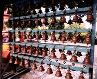 Holy bell in 108 shiva temple bardwan. A very beautiful shiv temple in bardwan, west bengal with 108 similar temples Stock Photo