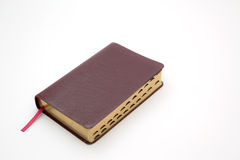 Holy Bible. A photo of a Holy Bible with a maroon cover isolated on a white background Royalty Free Stock Photos