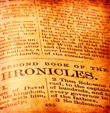 Holy Bible. Close up of old Holy bible book Royalty Free Stock Image