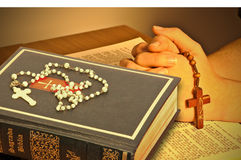 The Holy Bible. Represent the faith for Christians. It is his most important book Stock Image