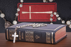 The Holy Bible. Represent the faith for Christians. It is his most important book Royalty Free Stock Image