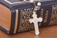 The Holy Bible. Represent the faith for Christians. It is his most important book Stock Photos