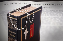 The Holy Bible. Represent the faith for Christians. It is his most important book Royalty Free Stock Photos