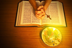 The Holy Bible. Represent the faith for Christians. It is his most important book Stock Photography