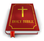 Holy Bible. Red Holy Bible isolated on white background Royalty Free Stock Images