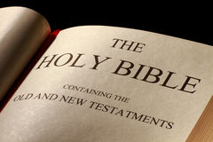 The Holy Bible. Title page Royalty Free Stock Photos