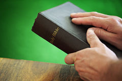 Holy Bible stock image