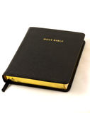 Holy Bible. A view of a Bible on a white background stock photography
