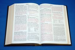 Holy Bible. On blue background Royalty Free Stock Images