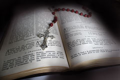 Holy Bible And Rosary Royalty Free Stock Images