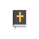 Holy bible book flat icon, religion elements. Religious sign, a colorful solid pattern on a white background, eps 10 vector illustration