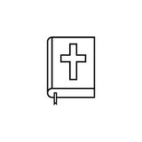 Holy bible book line icon, religion elements. Religious sign, a linear pattern on a white background, eps 10 vector illustration