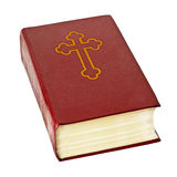 Holy bible book on white background Royalty Free Stock Photos