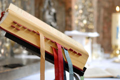 Holy bible with bookmarks Royalty Free Stock Photography