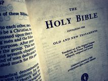 Holy bible. Close up of a Holy Bible Royalty Free Stock Photography
