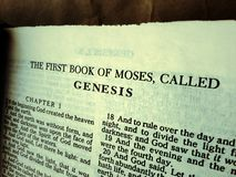 Holy bible. Close up of a Holy Bible Royalty Free Stock Images