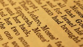 Holy Bible. Close up of a Holy Bible stock video
