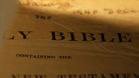 Holy Bible stock video