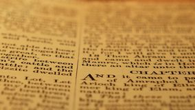 Holy Bible. Close up of a Holy Bible stock video footage