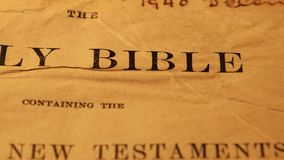 Holy Bible stock footage