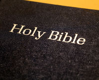 Holy Bible. Close up Old Holy Bible Royalty Free Stock Photo