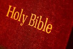 Holy Bible. Close up Old Holy Bible Stock Photos