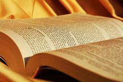Holy Bible, close up Stock Photography