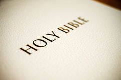 Holy Bible cover Royalty Free Stock Image