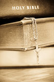 Holy Bible with cross Royalty Free Stock Images