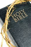 Holy bible and crown of thorns Royalty Free Stock Image