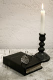 Holy Bible on the desk Royalty Free Stock Photo