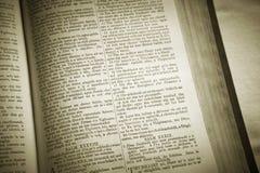 Holy bible in gaelic language. Lewis isle. Scotland. UK Stock Image