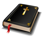 Holy Bible. With golden decorations on white royalty free illustration